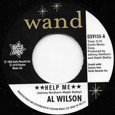 HELP ME, AL WILSON REISSUE, OUTTA SIGHT - Northern Soul