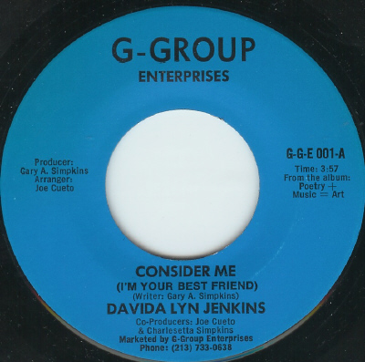 Davida Lyn Jenkins - Consider Me (I'm Your Best Friend)