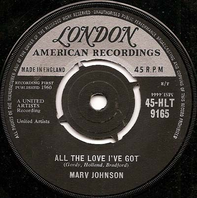 Marv Johnson With All Thats In Me Magic Mirror