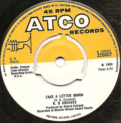 take a letter maria take a letter rb greaves atco northern soul 11482
