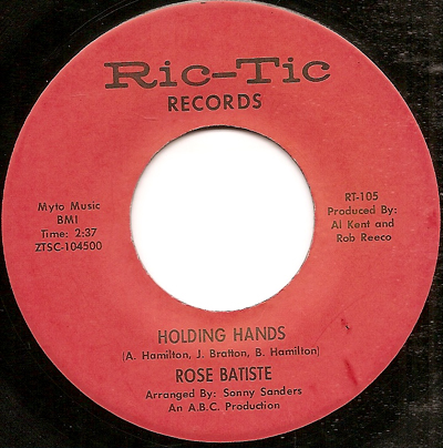 HOLDING HANDS, ROSE BATTISTE REISSUE, RIC TIC - Northern