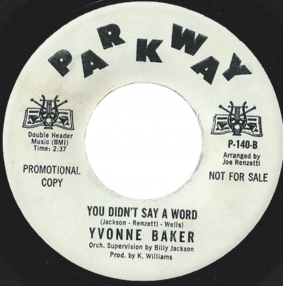 Image result for you didn't say a word yvonne baker