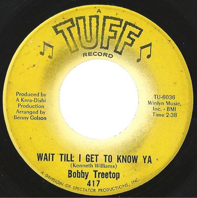 Bobby Treetop - Wait till I get to know ya