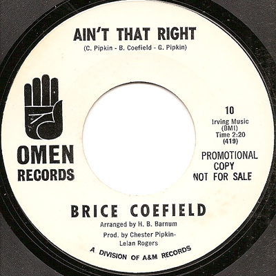Brice Coefield Aint That Right Just One More Night
