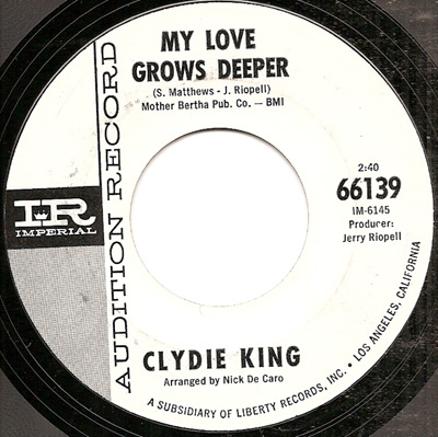 Clydie King My Love Grows Deeper Missin My Baby