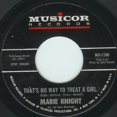 Marie Knight Thats No Way To Treat A Girl