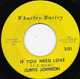 Northern Soul, Rare Soul - CURTIS JOHNSON, IF YOU NEED LOVE