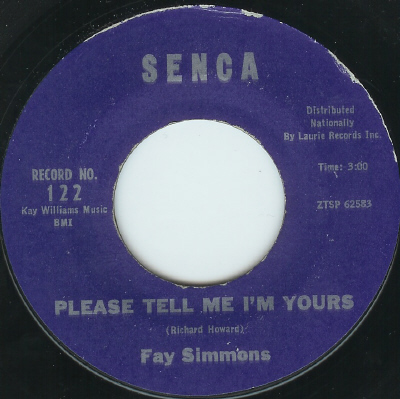 Northern Soul, Rare Soul - FAY SIMMONS, PLEASE TELL ME I'M YOURS