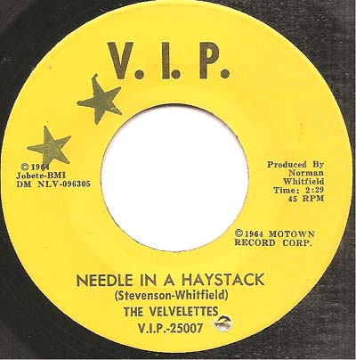 Northern Soul, Rare Soul - VELVELETTES US, NEEDLE IN A HAYSTACK